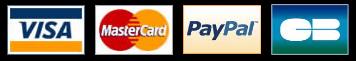 paiement sécurisé par cartes de crédit ou par Paypal
